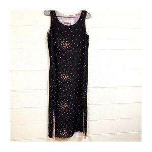 Sleeveless Layered Lined Side Slits Maxi Dress MD